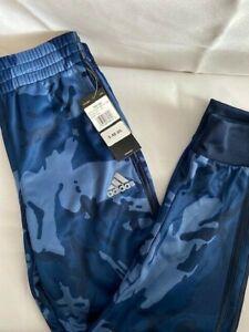 Adidas Boys' Cotton Fleece Jogger Pants Blue Camo Size 8