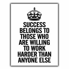 KEEP CALM SUCCESS BELONGS TO THOSE WHO ARE WILLING METAL SIGN WALL PLAQUE poster