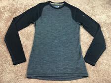 Smartwool Black & Gray Crew-Neck Sweater Size Medium