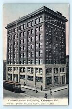 Postcard MI Kalamazoo Pre 1908 Kalamazoo National Bank Building Mechanical H15