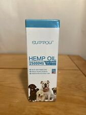 SUPPOU Hemp Oil  For Pets Dogs 25000 mg. 2FL oz/ 60mL Anxiety Joint Health 07/22