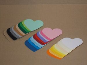 Handmade Kraft / Coloured Heart shaped Gift tags/Labels/Wedding Favours