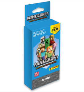 Panini Minecraft Adventure Trading Cards Multi-Set (4 packets = 32 cards) UK NEW