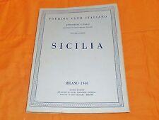 sicilia ,touring club ,1940 milano,attraverso l'italia vol. 4°