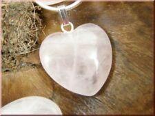 Markenlose Echtschmuck-Halsketten & -Anhänger mit Herz-Rosenquarz