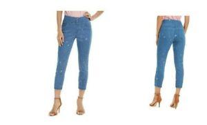 HUE ditsy floral capri denim high waist skimmer leggings - XS S M L XL XXL