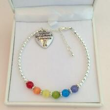Beautiful LGBT Bracelet with Gay Pride Colours. Lesbian Jewellery Gift.