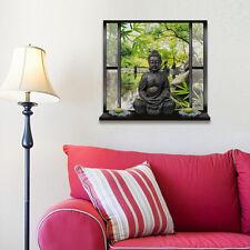 1 Stück 3D Wandtattoo Buddha Aufkleber Wandaufkleber Dekoration Wandbilder Neu