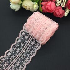 10yards 45mm Vintage Handicrafts Embroidered Net Lace Trim Ribbon Bridal Craft