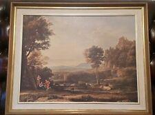 Vintage Claude Lorraine 17th Century Classical Landscape Reprint 78 1/2 x 63cm