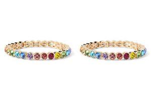 Banana Republic Women's Multi Stone Stretch Bracelet NWT 68 Rainbow