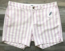 "Size 10 OLD NAVY New Women's Striped Linen Blend 5"" Inseam Everyday Shorts"