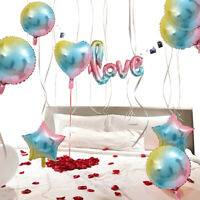 Rainbow Gradient Color Foil Balloons Birthday Weeding Party Home Ornament Supply