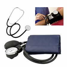 ANEROID Adult Blood Pressure BP Cuff Set Sphygmomanometer Stethoscope Kit Hot!