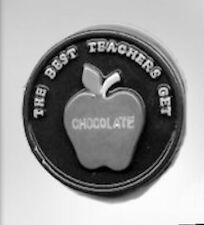 The Best Teacher Round Bar Chocolate Candy Mold from CK #14688 - NEW
