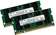 2x 1gb 2gb memoria RAM PER NOTEBOOK DELL VOSTRO 1000-Samsung ddr2 533 MHz