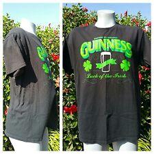 Guinness Beer Mens T-Shirt Clover St Patricks Day Ireland Irish Black Green XL