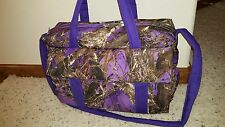 Purple True Timber camo Emijane handmade Diaper Bag w/chg pad FREE Embroidery