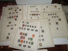 LARGE LOT OF WORLDWIDE STAMPS - LOOSE ALBUM PAGES - UNSEARCHED - DESCR - TUB CBB