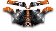 Polaris RZR 900 XP UTV Wrap Graphics Decal Kit 2011-2014 Turbo Charged Orange