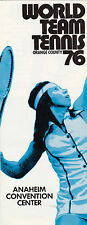 1976 ORANGE COUNTY WORLD TEAM TENNIS BROCHURE - WTT - ROSIE CASALS ON FRONT