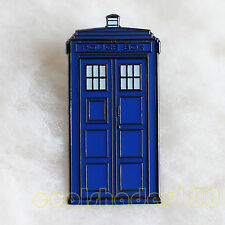 The Police Box Doctor Who Tardis Metal Lapel Pin Badge