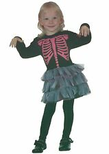 Toddler Halloween Skeleton Girl Fancy Dress Costume Party Outfit Book Day