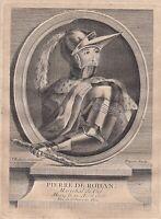 Portrait XVIIIe Pierre De Rohan Maréchal De Gié Rohan-Guéméné Duché Bretagne