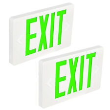 Hykolity LED Emergency Exit Light Double Green Letter with Battery Backup 2 Pack