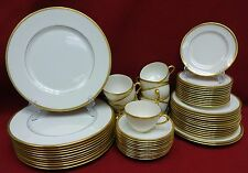 LENOX china TUXEDO J33 green stamp 61-piece SET SERVICE for Twelve (12)