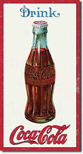 COKE - 1915 BOTTLE - MEDIUM METAL TIN SIGN 40.6CM X 21.5CM GENUINE AMERICAN MADE
