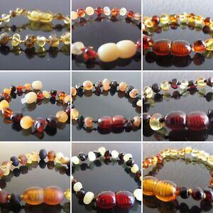 Genuine Baltic Amber Bracelet/Anklet  various sizes, 7 colours