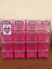 Really Useful Organiser Box with 16 x 0.14 Litre Boxes In Pink & White