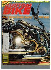 CUSTOM BIKE AUGUST 1980  NORCAL DIGGERS 70's BAY AREA CUSTOM STREET CHOPPERS