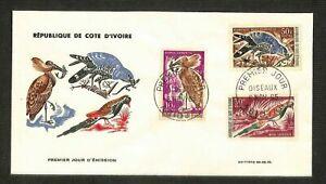FDC - Enveloppe Premier Jour - REPUBLIQUE DE COTE D'IVOIRE - OISEAUX - 1965