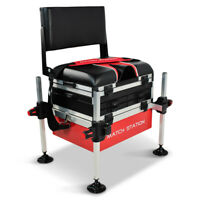 Match Station AS5 Drawer RED BASE Alloy Pro-Sport Seat Box & Back Rest