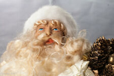 Collectible Vintage Sitting Santa Claus Figurine  Holiday Gifts New Smoke Free