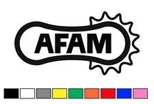 coppia adesivi AFAM 12x6cm decal sticker ritagliato auto moto adesivo