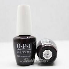 OPI GelColor GC I43 BLACK CHERRY CHUTNEY 15mL/ 0.5 oz UV LED Gel Dark Black-Red