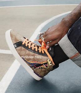 NWT Coach X Jean-Michel men's Basquiat Clip High Top Sneaker limited edition