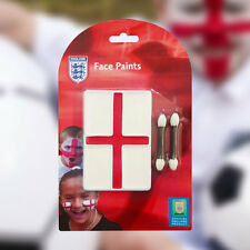 Red White England Flag Face Paint Set w/ Applicator St George Day Cricket Rugby
