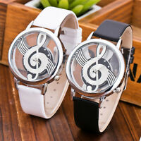 Women's Leather Band Stainless Steel Watch Casual Analog Quartz Wrist Watches SA