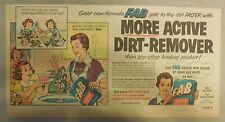 FAB Detergent Ad: More Active Dirt-Removing FAB Ad from 1950's