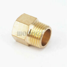 "1/2"" NPT Male x 3/8"" NPT Female Brass Pipe Fitting Adapter For Pressure Gauge"