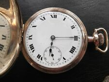 Antique gold filled pocket Switzerland watch Buren Serviced Full hunter
