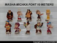 SERIE COMPLETE DE FEVES MASHA ET MISHKA FONT 10 METIERS