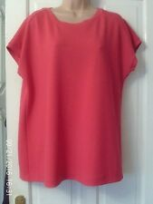 PINK CAPPED SLEEVE TOP BY NEXT, SIZE 16