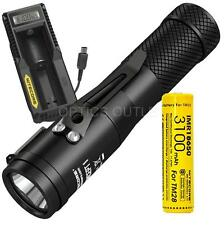 Nitecore Concept 1 (C1) 1800 Lumen LED Compact EDC Flashlight UM10 Charge Bundle