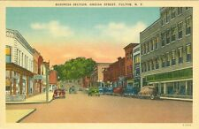 Fulton, NY y Corner/Barber Furniture Store,Oneida Street in the Business Section