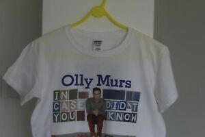 """Olly Murs """"In Case You Didn't Know"""" 2012 Tour T-Shirt - Size Small"""